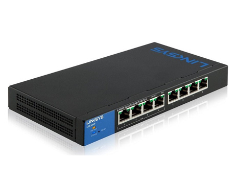 Linksys LGS308P 8-Port Business Smart Gigabit PoE+ Switch