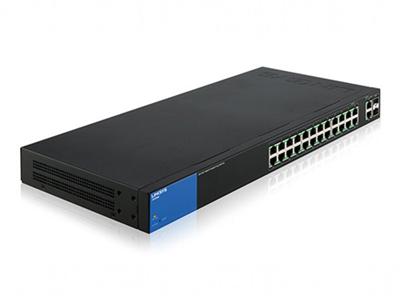 Linksys Business LGS326MP PoE+ Smart 24 Port Gigabit Network Switch